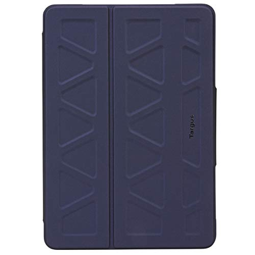 Targus Pro-Tek Case for Apple iPad (7th Gen) 10.2-Inch, iPad Air and iPad Pro 10.5-Inch with Slim TriFold Stand Cover, Stylus Holder, Magnetic Closure, Navy Blue (THZ67302GL)