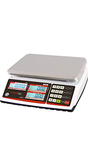 VisionTechShop TVP-60B Price Computing Scale, Lb/Oz/Kg Switchable, 60lb Capacity, 0.01lb Readability, NTEP Legal for Trade