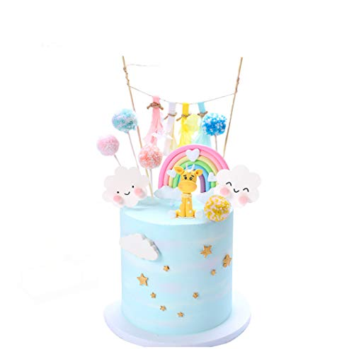 YZCX Decoración para Tarta Unicornio Cake Topper Decoraciones de Pasteles Cumpleaños Fiesta para Niñas Niños (Jirafa)