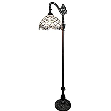 Amora Lighting AM122FL12 Jeweled Reading Floor Lamp, 12 W x 62 H