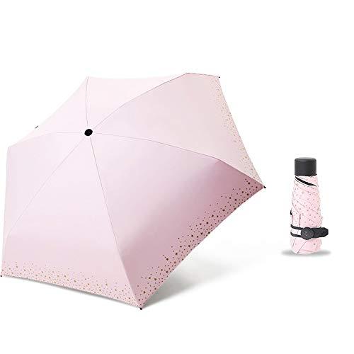 ZHQHYQHHX Damen Mini Sonnenschirm Taschenschirm Super leichte Sonnenschirm-Schattierung Schwarz-Weiß-Kombination Unisex UV-Schnitt UPF50 + UV-Schutzfaltung (Color : 15, Size : One Size)