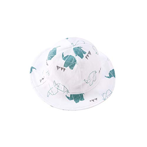 pureborn Baby Hat Newborns Boys Girls Fall Sun Hats Bucket Breathable Cotton Elephant 0-3 Months