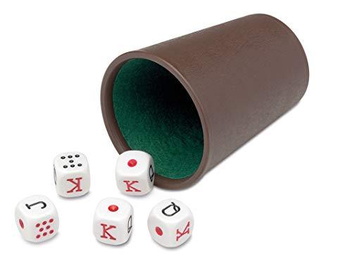 Cayro - Cubilete Forrado y Dados Póker - Desarrollo de Habilidades cognitivas e inteligencias múltiples - Casino (072/1)