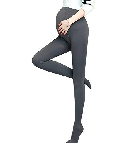 Ecroon Premamá Medias Pantys Maternidad Mujer Medías y calcetines Opacas de Maternidad del invierno Leggings Ajustable Pantimedias embarazadas 200D