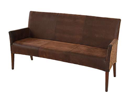 casamia gestoffeerde zitbank eetkamer zitbank eetkamerbank Bilbao volledig bekleed kussen prairie Brown