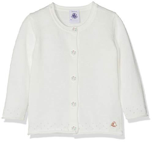 Petit Bateau Basile Gilet, Blanc (Marshmallow 01), Nouveau-né (Taille Fabricant: 24M 24mois) Bébé Fille