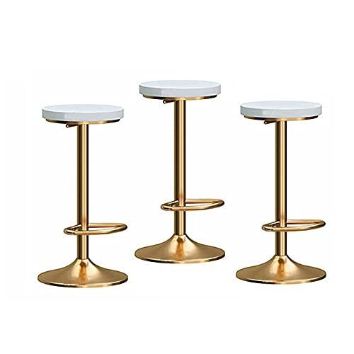 BY-lYJ Sillas de Bar Un Juego de 3 taburetes de Bar Ajustables, taburetes de Bar, taburetes de Bar de mostrador y Asientos de Madera de reposapiés Taburetes de Barra de Desayuno (Color : B)