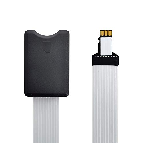 xiwai Micro-SD TF Speicherkarten-Set, Stecker auf SD-Buchse, weich, flach, FPC-Kabel, Extender, 25 cm