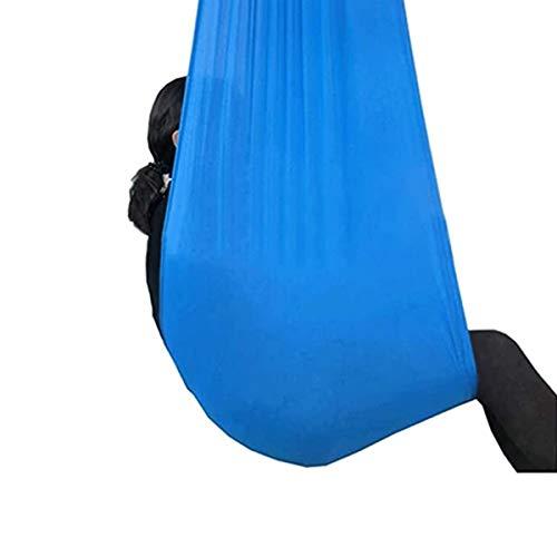 MTFZD Hamaca De Yoga Elástico Hamaca Yoga Aérea Ajustable Interior Columpio Swing Terapia Infantiles con Necesidades Especiales para Integración Sensorial (Color : Blue, Size : 150 x 280 cm)