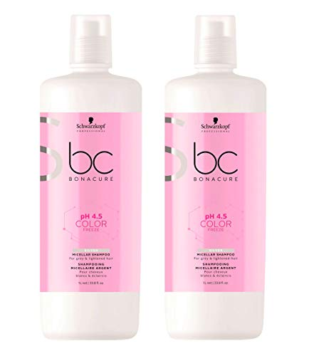 Schwarzkopf BC Bonacure pH 4.5 Color Freeze Silver Micellar Shampoo 2 x 1000 ml