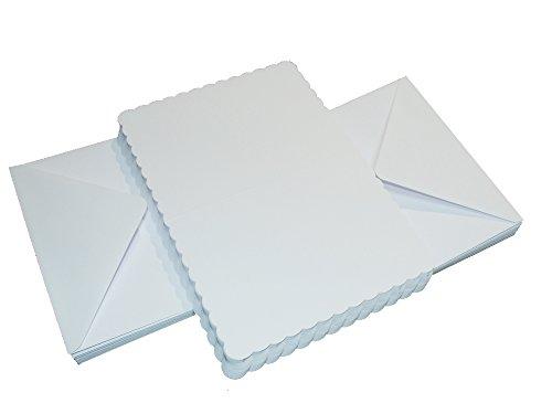 Crafts UK 50gewelltem Karten und Briefumschläge, Weiß, 5X 5-inch-p, Karton, weiß, 91 x 152 x 0.64 cm