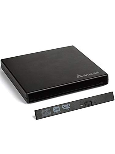Salcar - DVD Externo Adaptador Caja Carcasa para unidades de almacenamiento portátiles SATA para unidades de reproducción de Notebook CD/DVD Drive de 12,7mm (no incluye incluye ninguna unidad de reproducción)