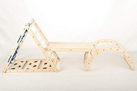 Lemurenling Set - Kletterdreieck (70 cm) mit Rutsche und Bogen