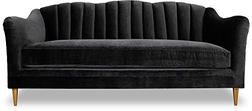 JVmoebel Sofá de 3 plazas, diseño Chesterfield, color negro