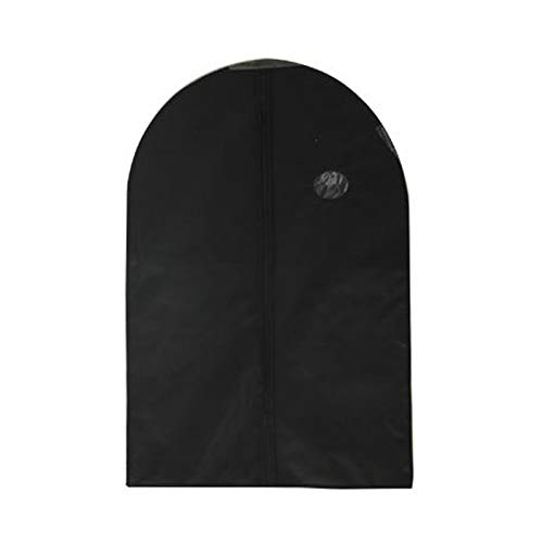 Clothing dust cover Clothes Dust Cover with Zipper Storage Bag Garment Costume Protector Suit Case Home Organizer Non-woven Craft 1pcs clothes dust cover ( Color : Black , Specification : 90x60cm )