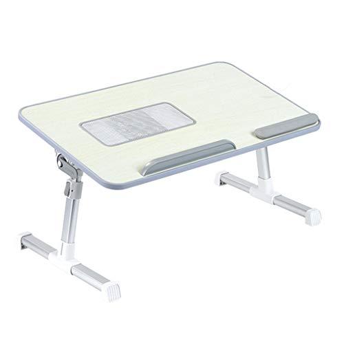 Laptop Stand escritorio de la computadora bandeja de la cama Escritorios for la falda de la cama Tabla Tabla del ordenador portátil altura y el ángulo ajustable plegable Permanente Escritorio for La E