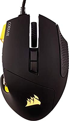 Corsair Scimitar PRO RGB Optical MMO Gaming Mouse (16000 DPI Optical Sensor, 12 Programmable Side Buttons, 4-Zone RGB Multi-Colour Backlighting, On-Board Storage, Xbox One Compatible) - Yellow