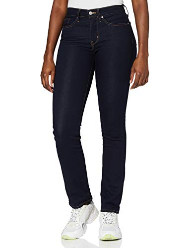 Levi's 314 Shaping Straight Jeans, Darkest Sky, 31W / 32L para Mujer