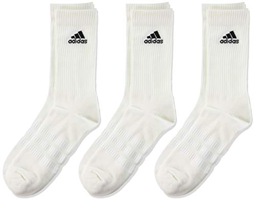 adidas 3 Paar Cushion Crew Socken, Weiß / Schwarz, L
