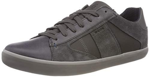 Geox Herren U Box D Sneaker, Grau (Anthracite C9004), 43 EU