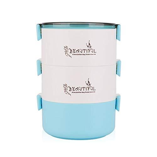 CFZHANG Bento Box 3 Layer Pranzo Termico In Acciaio Inox Lunch Boxing Alimentare Contenitore Di Frutta Scatole Di Stoccaggio Per Memorizzare Per Bambini Pic-Nic