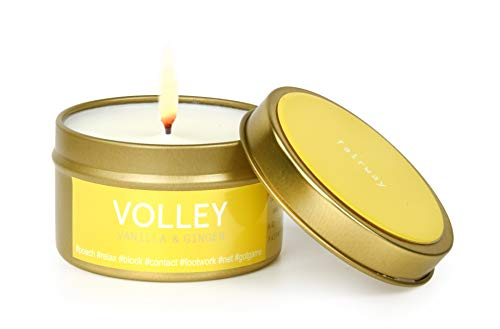 Fairway Premium Candles for Sports Lovers | All Natural Scented Vegan Soy Wax | Hand Poured in the USA | Tennis-theme, Volley | Vanilla & Ginger | 6 oz