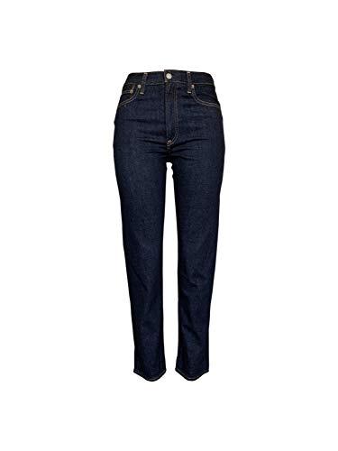 Polo Ralph Lauren Women's Jeans The Waverly Straight Hight Rise Crop Jean (27, Indigo Blue)