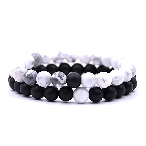Souarts Wonderful Bracelet Set for Men and Women Lovers Elastic Natural...