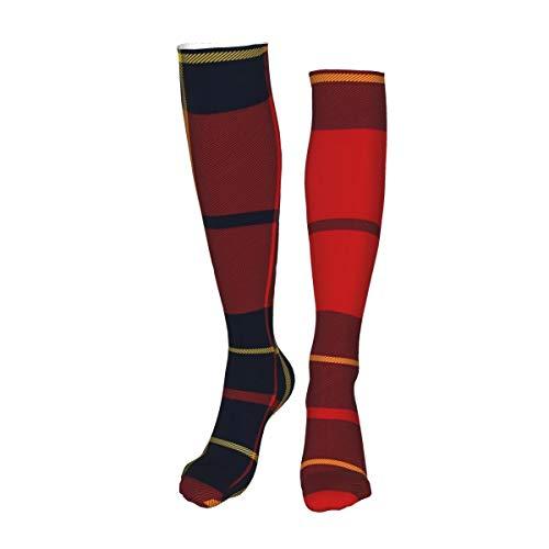 Vilico Lässige Kniestrümpfe, Overknee-Strümpfe, lange Socken, Brodie Tartan, Unisex, Sport für Männer und Frauen