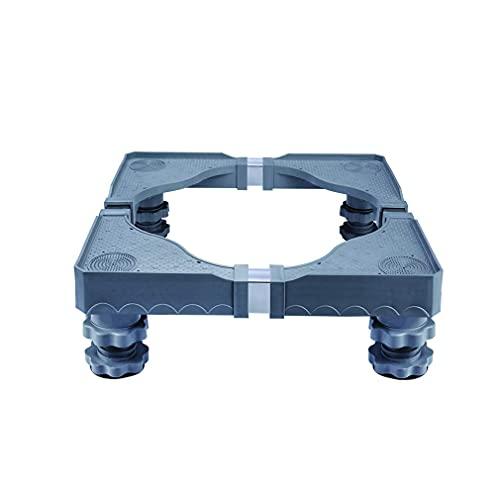 Base para Lavadora Soporte de Estante de congelador Mejorado para frigorífico 10-12 cm Soporte de Soporte de refrigerador Ajustable Soporte Bandejas de Piso para Secadora Antivibración con 4 Patas f