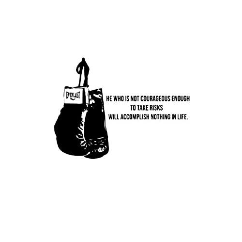 Wandtattoo Aufkleber Cartoon Boxhandschuhe Wandtattoo Abnehmbares Wandbild Wohnzimmer Schlafzimmer Dekoration Zubehör 54X86 cm
