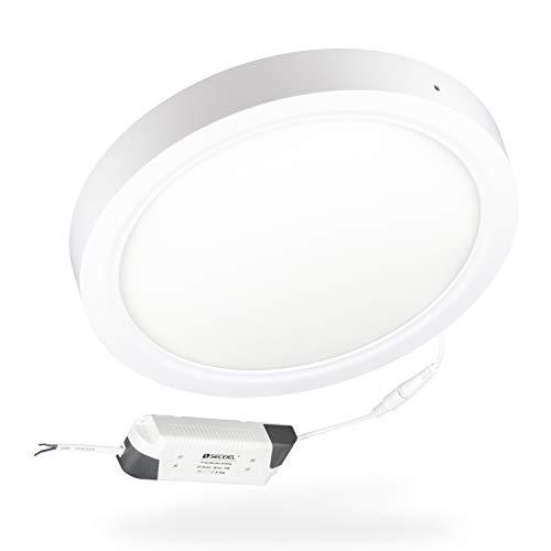 Plafón LED Lámpara de Techo Moderno redondo LED 18W 24W 4200K 6000K superficie para Cocina Sala de estar Dormitorio Pasillo Comedor (6000K, Circular-24W)