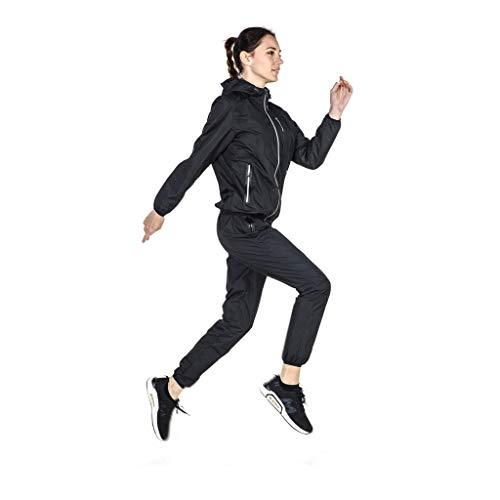 Zweetpak Zwarte Grote Code Explosie 200 Ponden Gewichtsverlies Kleding Vrouwen Pak Twee Sets Van Hardlopen Sport Fitness Zweet Verlies Vet