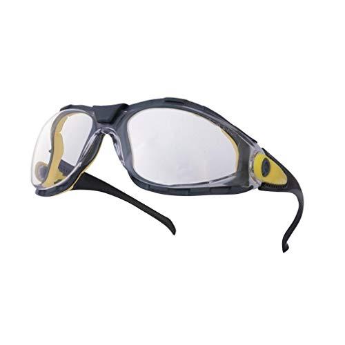 Delta plus - Gafa protección pacaya clear lens policarbonato incolora negro / amarillo 🔥