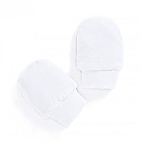 Dudu N pour bébé de coton peigné Scratch Moufles, 4 pièces