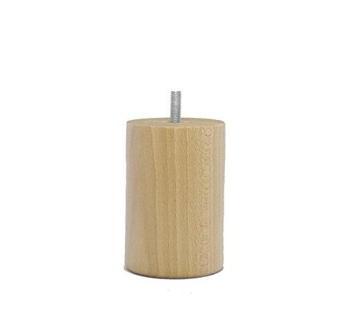 La Fabrique de Pieds Jeu de 4 Pieds de Lit, Bois, Vernis Clair, 10 x 7 x 7 cm