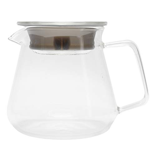 Cafetera de vidrio, cafetera de vidrio para verter sobre la cafetera, tetera para la oficina en el hogar, suministros para la tienda de café(300ML)