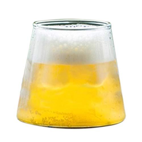 Verres à vin Verre À Bière Verre sans Plomb Verre À Cocktail Whisky Coupe Lait Verre Verre Vin Cadeau (Color : Clear, Size : 5.5 * 9.5 * 7.5cm)