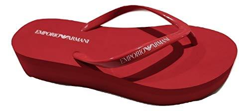 Emporio Armani Zehentrenner für Damen, aus Gummi, Rot, Rot - rot - Größe: 35 EU