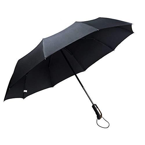 Ombrello Antivento Pieghevole Automatico, Massway Portatile Auto Open & Chiudi Pioggia Ombrello da viaggio di alta qualità e resistenza - 10 stecche rinforzate, funzione anti-vento Teflon