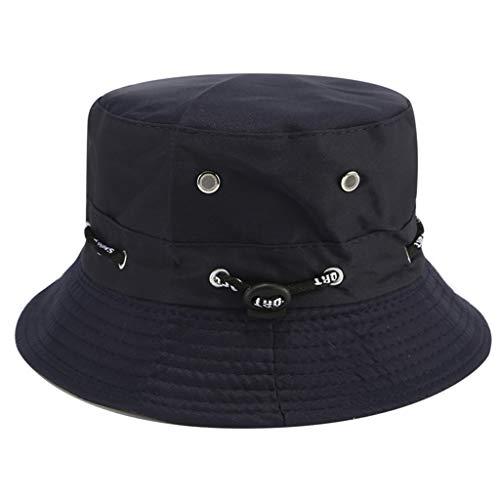 BE YOU TIFUL Sombrero de Copa, Sombrero de Pescador Ajustable Transpirable de Camuflaje al Aire Libre de Verano Unisex - Armada