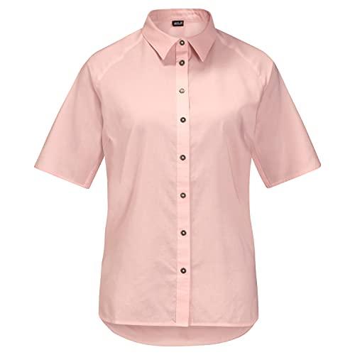 Jack Wolfskin Damen NATA River Hemd, Blush pink Stripes, XXL