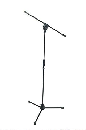 Asta per microfono PROFESSIONALE con giraffa PROEL PRO100BK, Base di Treppiede in alluminio e manicotto di regolazione in nylon