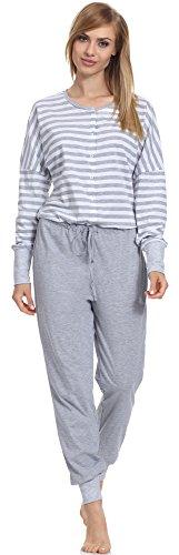 Be Mammy Damen einteiliger Still Schlafanzug BE20-130 (Melange, L)