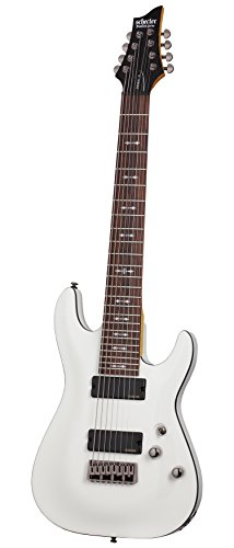 Schecter OMEN-8 8-String Electric Guitar, Vintage White