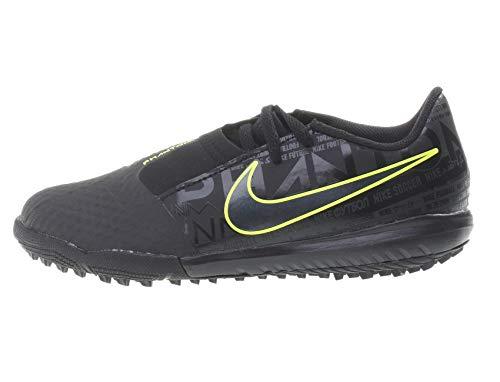 Nike Jr Phantom Venom Academy Tf Ao0377 077, Scarpe da Calcetto Indoor Unisex-Adulto, Nero, Verde Lime, 32 EU