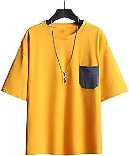 Wanxiaoyyyinnsdx Mens Henley Short Sleeve, Men's T-shirt Summer Casual Loose Hip Hop T-shirt Male Breathable Mens Jogger S...