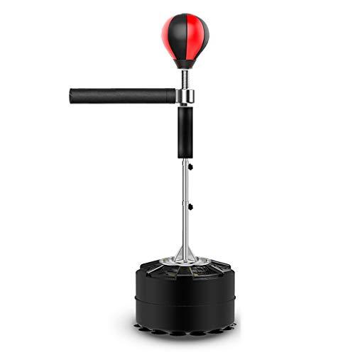 Boksen Zandzakken, Volwassen Household Dodge Rotation Training Sanda Tumbler Reactie Verticaal Stick Target, snelheid bal Children's, Verdikte Base & 14 zuignap & hoogte verstelbaar (Color : Black)