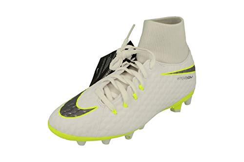 Nike Hypervenom Phantom III Academy DF AG-Pro, Zapatillas de Fútbol Unisex Niños, Blanco (Weiß/Gr/Gelb Weiß/Gr/Gelb), 36.5 EU