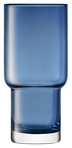 LSA International 390 ML Utilitaire Highball Sapphire, Bleu, 8.2 x 8.2 x 15 cm